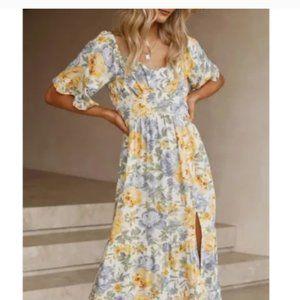 Plus Size HARPER Floral Maxi Dress With Slits